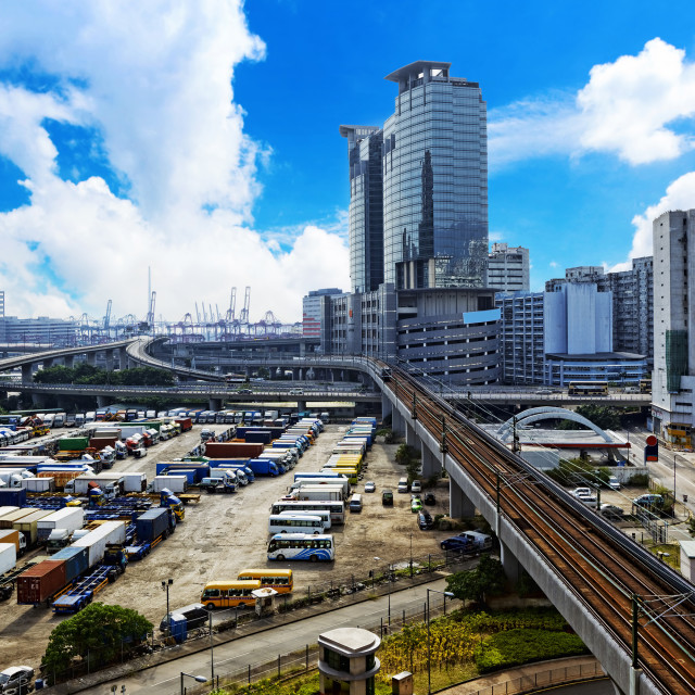 """""""Downtown city at day"""" stock image"""