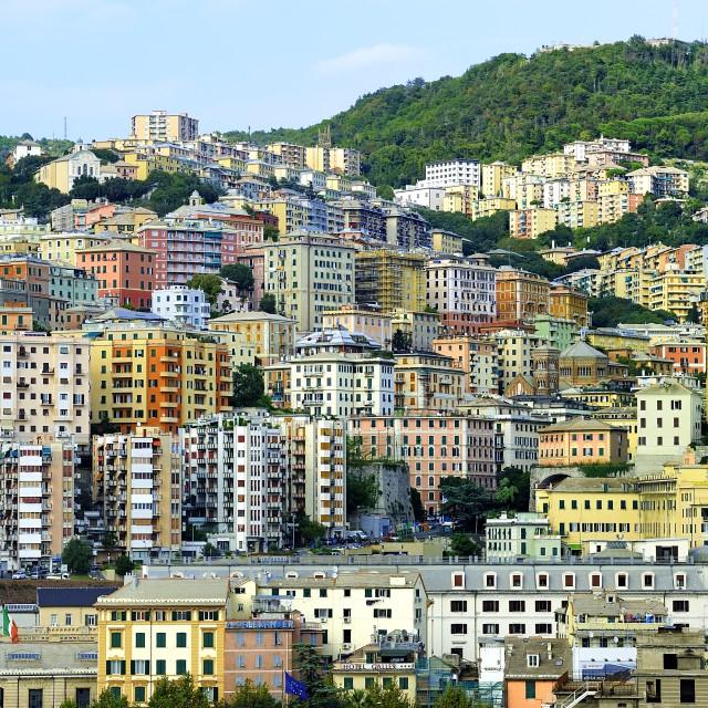 """""""City of Genoa, Italy"""" stock image"""
