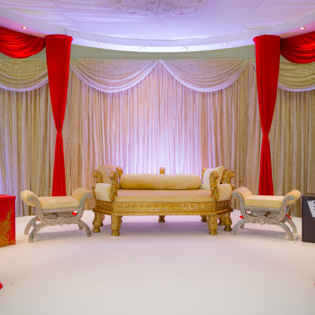 """Indian wedding stage"" stock image"