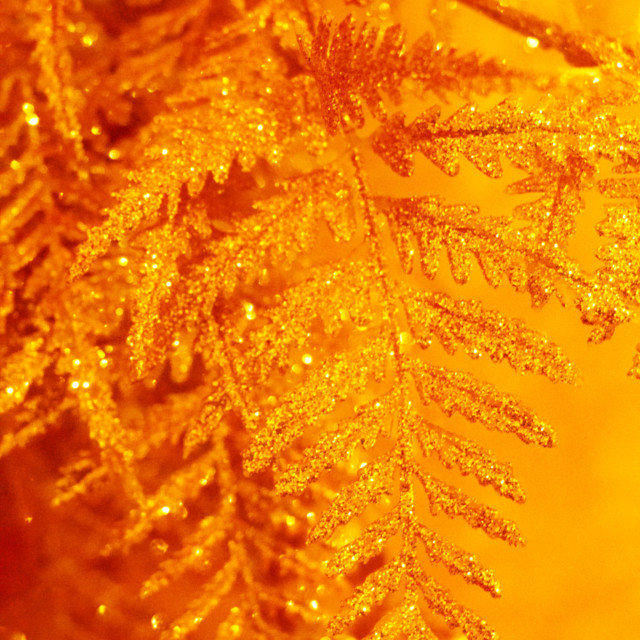 """Golden Christmas tree"" stock image"