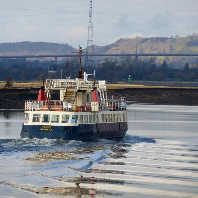 """Cruiser on the Clyde"" stock image"
