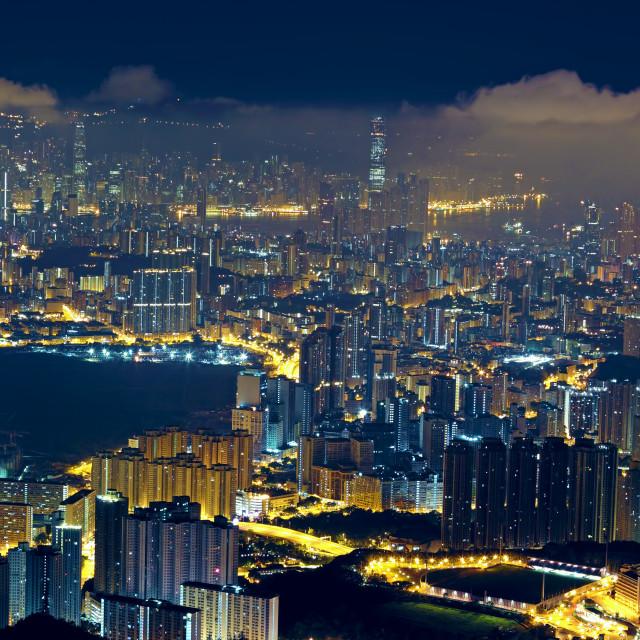 """""""hong kong city night"""" stock image"""