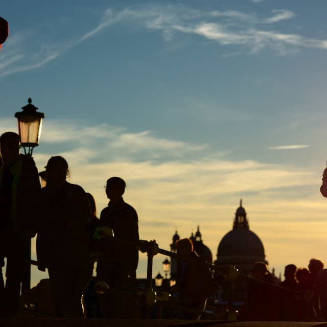 """Venice sunset silhouette"" stock image"