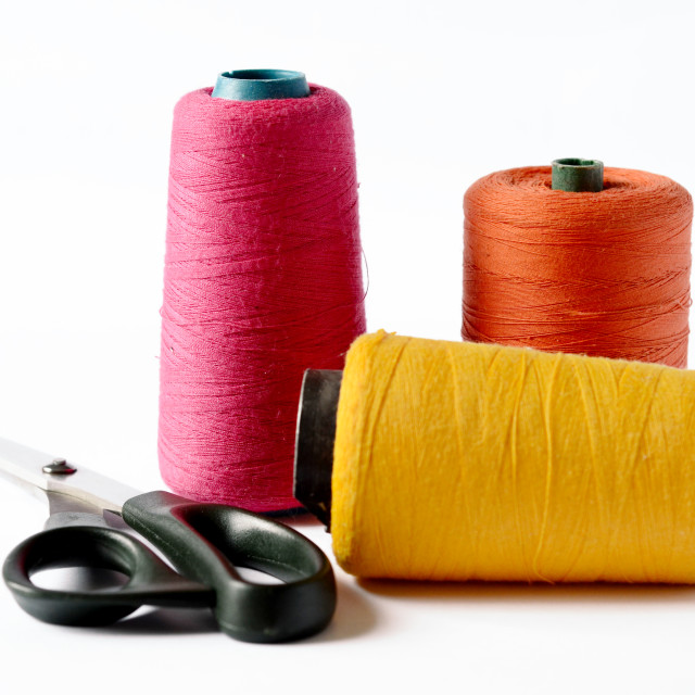 """Thread bobbins"" stock image"