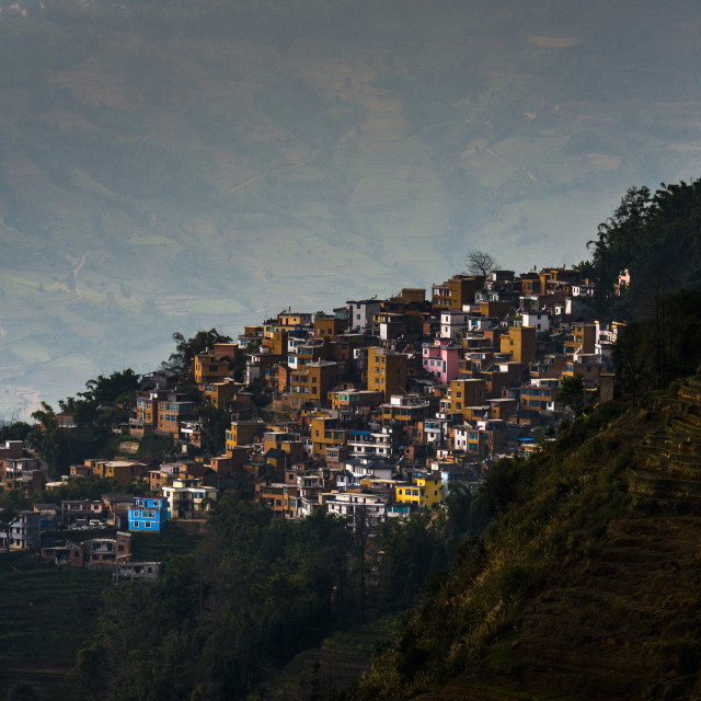 """""""A mountain village in China"""" stock image"""