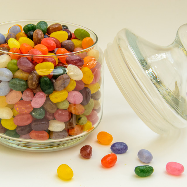 """Jar of Jelly Beans"" stock image"