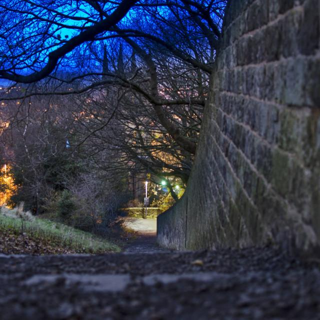 """Calton Hill, Edinburgh"" stock image"