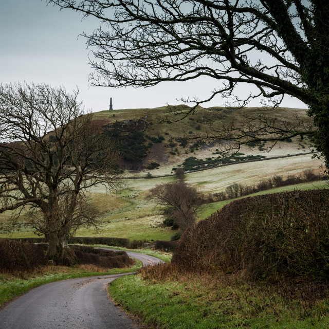 """Kildoon Hill Winding Road"" stock image"