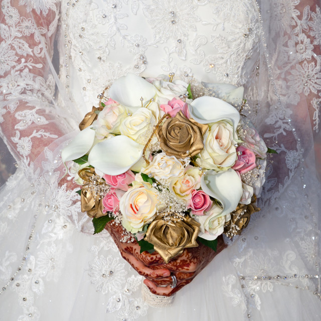 """Bridal bouquet"" stock image"