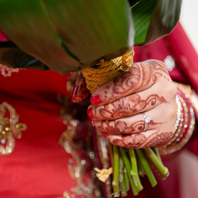 """Brides hand"" stock image"