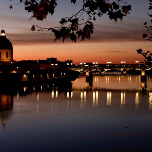 """reflection on the Garonne"" stock image"