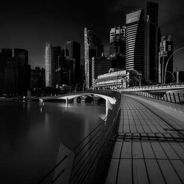 """Raffles Place"" stock image"