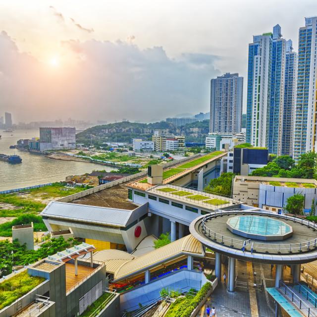 """Hong Hong Public Estate Sunset"" stock image"