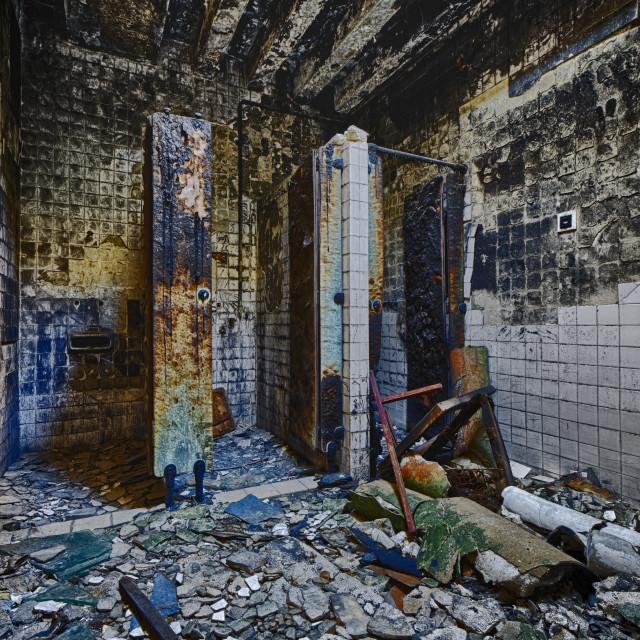 """Mental Hospital Bathroom"" stock image"