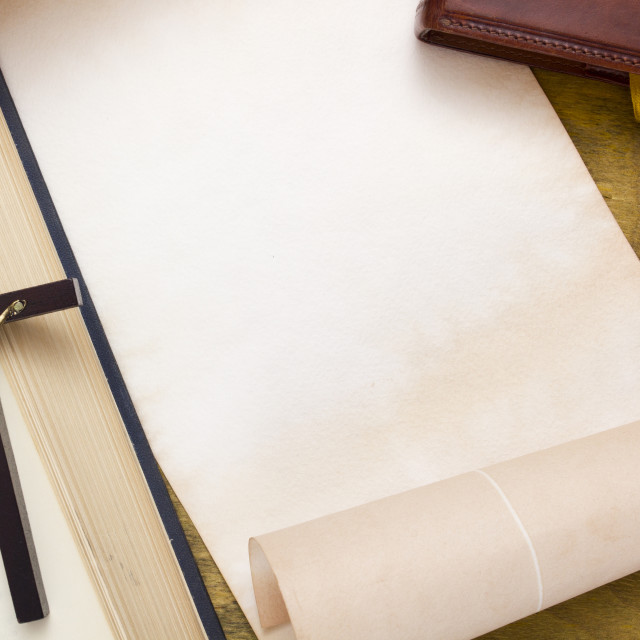 """""""Old books and manuscripts for text"""" stock image"""