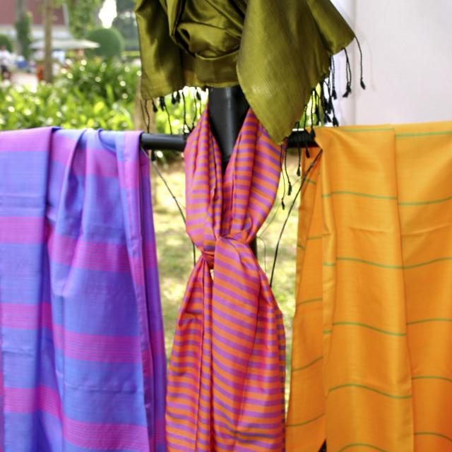 """Artisans d'Angkor Silk Farm, Siem Reap"" stock image"