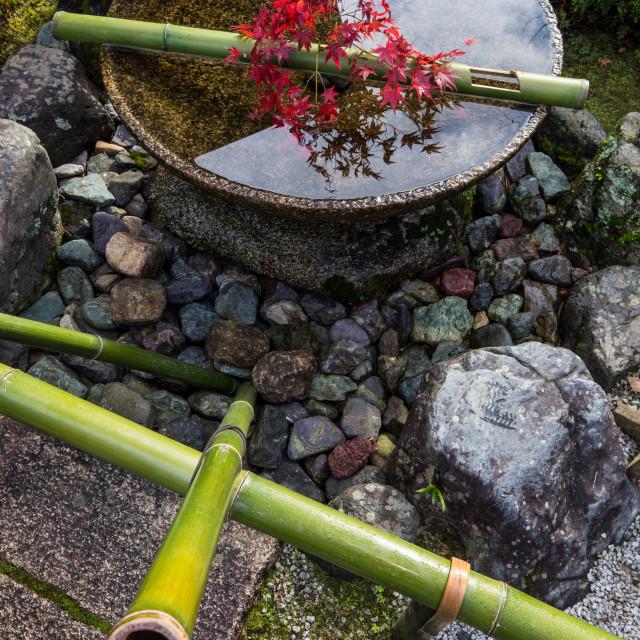 """Suikinkutsu - Japanese Water Harp"" stock image"