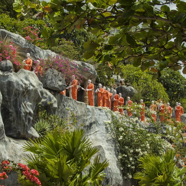 """Buddha statues in Dambula"" stock image"