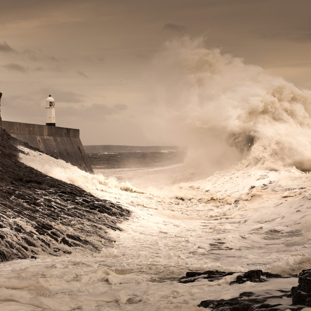 """Porthcawl lighthouse"" stock image"