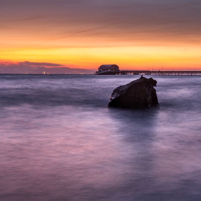 """Swansea Bay Sunrise"" stock image"