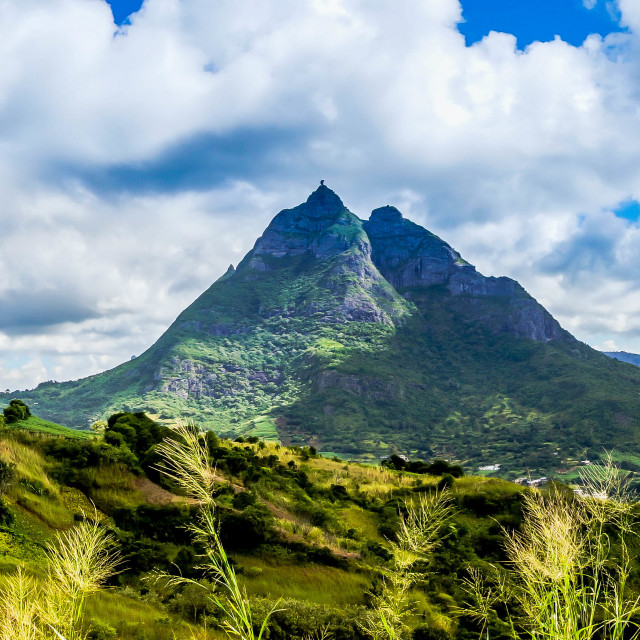 """View of mountain range"" stock image"