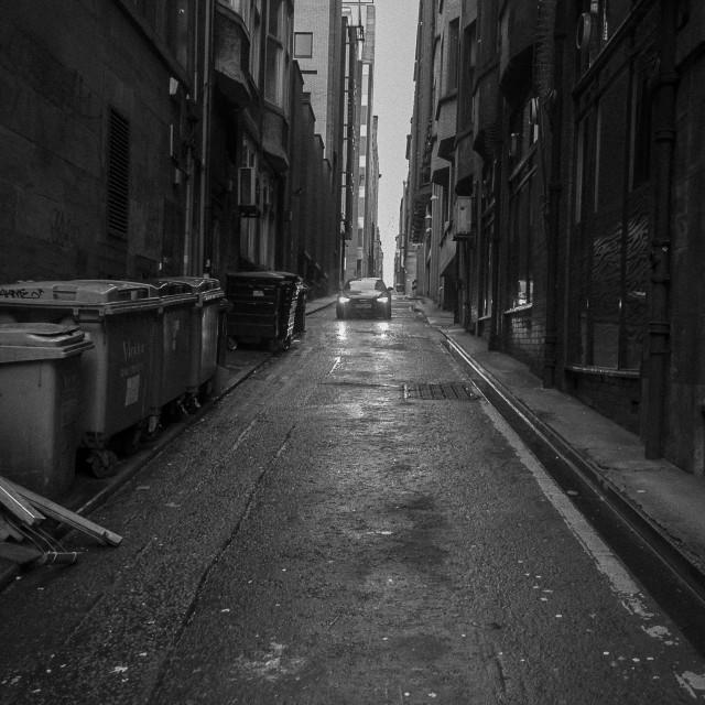 """""""Inner City Lane"""" stock image"""