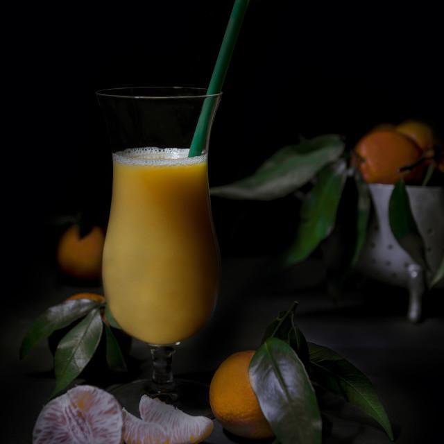 """Tangerine juice"" stock image"