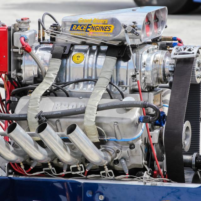 """""""V8 dragster engine"""" stock image"""