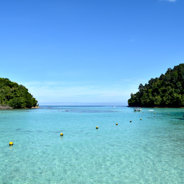 """Between Sapi Island and Gaya Island"" stock image"