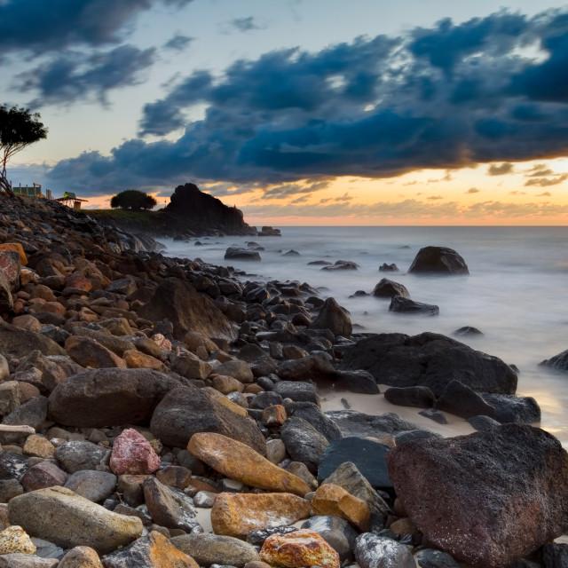 """Snapper Beach Dawn Gold Coast"" stock image"