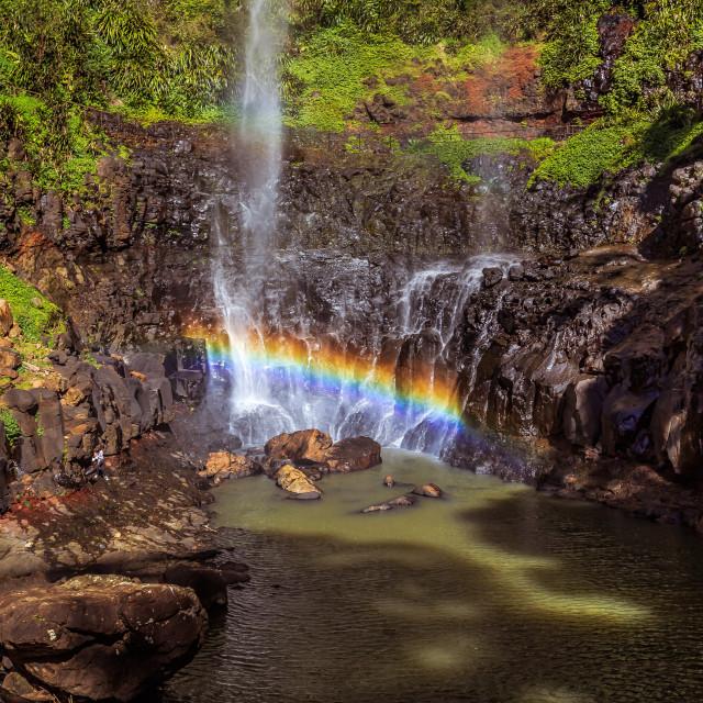 """Purling Brook Falls Rainbow"" stock image"