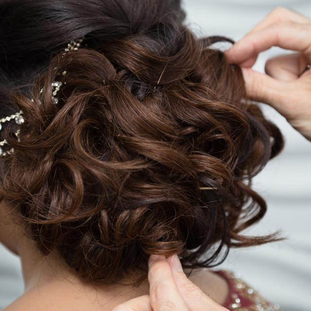 """""""Bridal hair"""" stock image"""