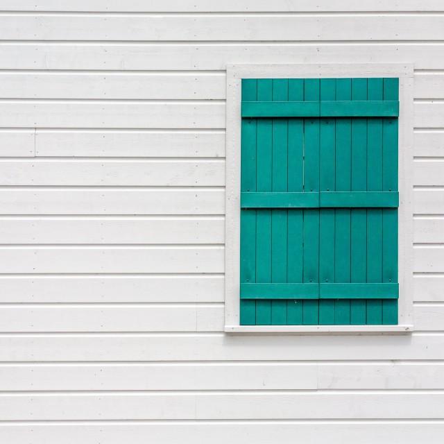 """Shuttered window"" stock image"