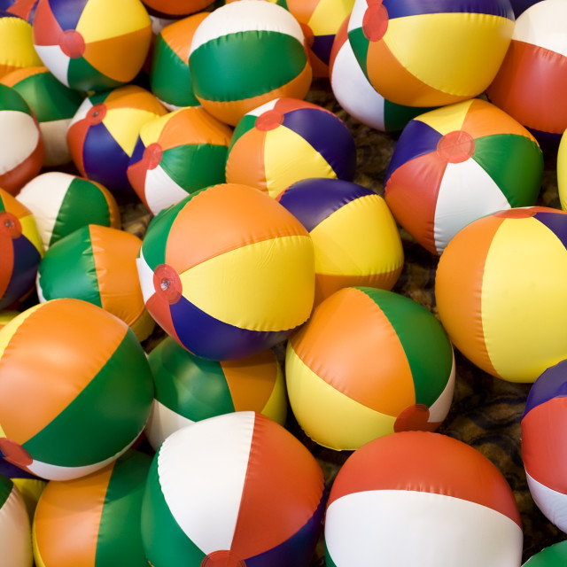 """Beach Balls!"" stock image"