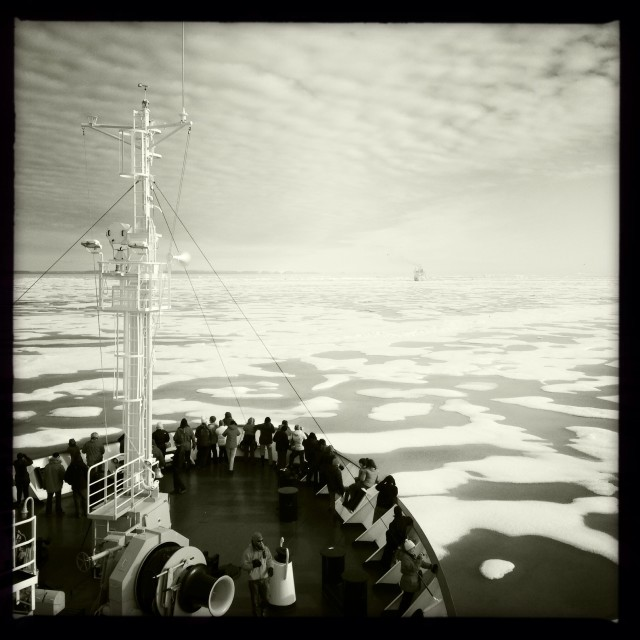 """Ships in the Ice"" stock image"