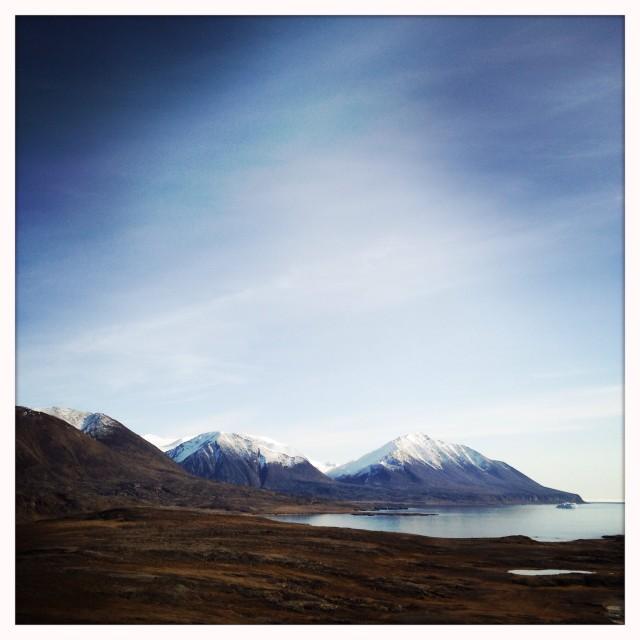 """Mountains of Nunavut"" stock image"