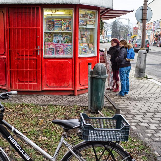 """Red kiosk"" stock image"