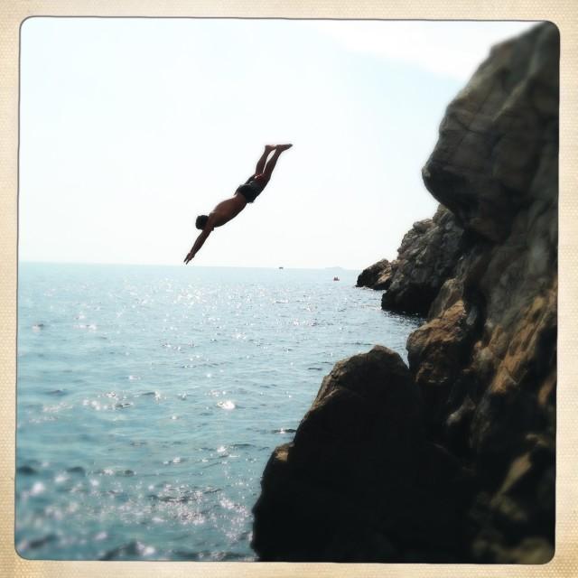 """Into the Sea"" stock image"