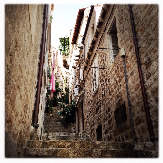 """Croatian Alleyway"" stock image"