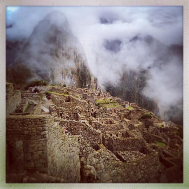 """""""Misty Machu Picchu"""" stock image"""