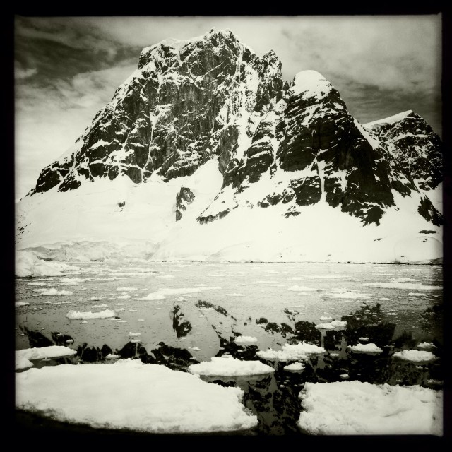 """Antarctic Mountain"" stock image"