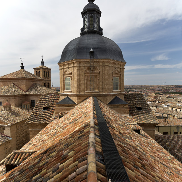 """Church of San Ildefonso"" stock image"