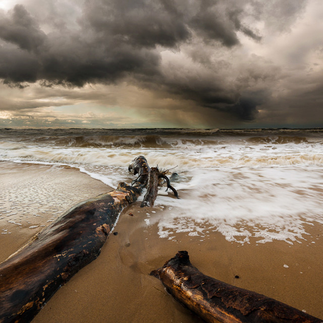 """Autumn storm in the Baltic Sea"" stock image"
