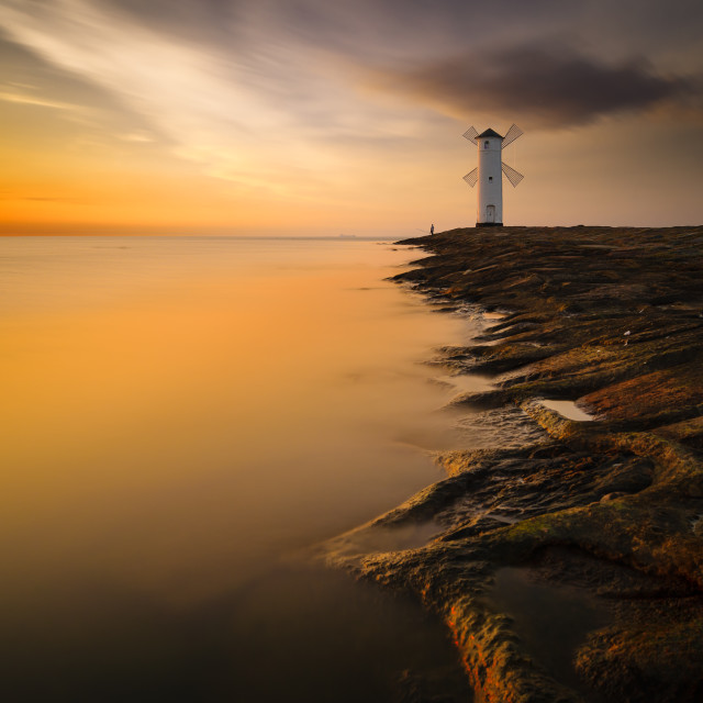 """lighthouse in Swinoujscie,Poland"" stock image"