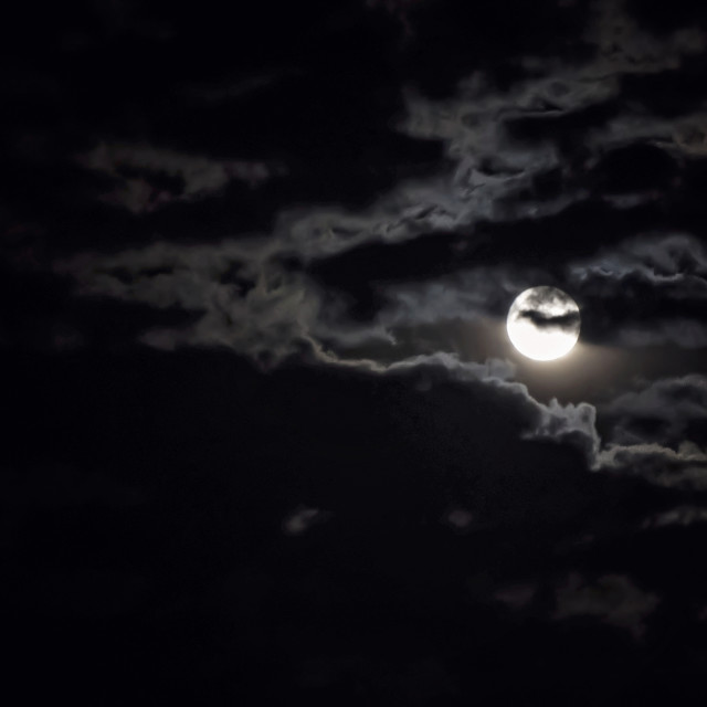 """""""Smoked moon"""" stock image"""