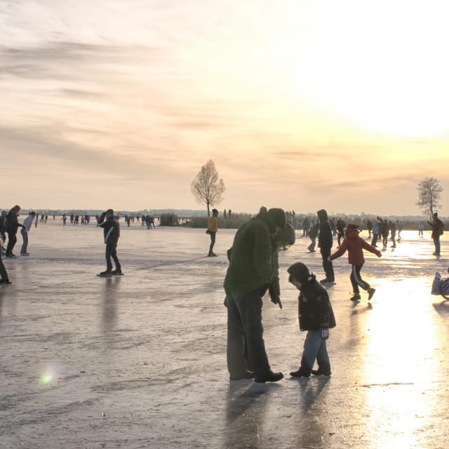 """People on ice"" stock image"