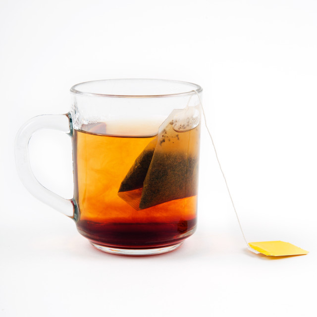 """Hot tea in glass"" stock image"
