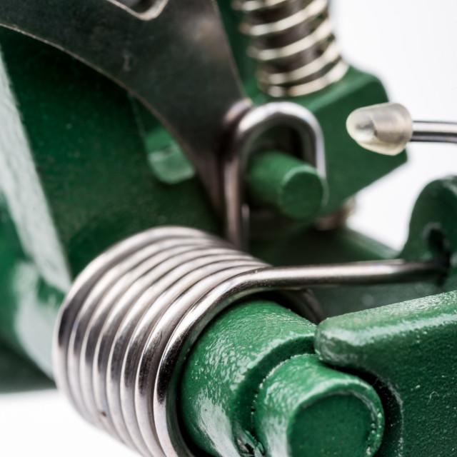 """""""Macro Detail of a Metallic Spring"""" stock image"""