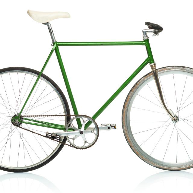 """Stylish hipster bicycle isolated on white"" stock image"