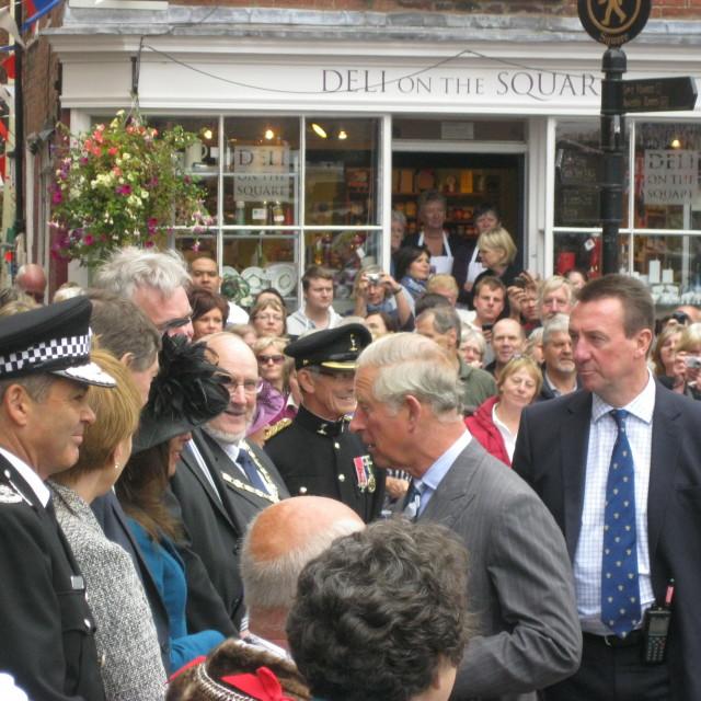 """Prince Charles visit Ludlow"" stock image"